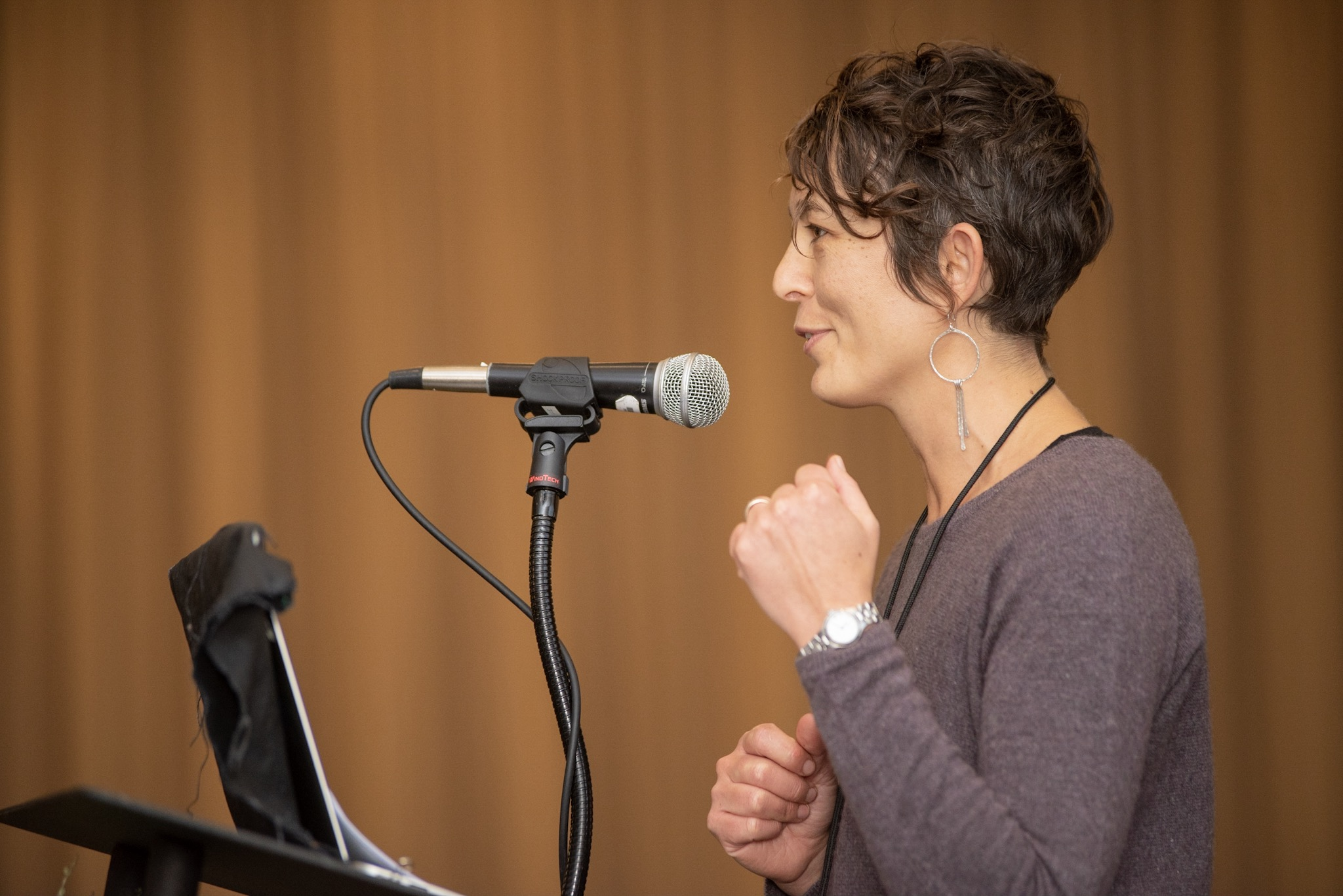 Thea Maria Carlson speaking at the 2018 Biodynamic Conference