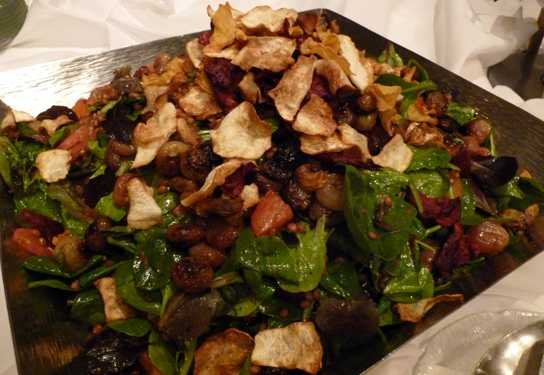 Root vegetable salad made with biodynamic vegetables from Turtle Creek Gardens