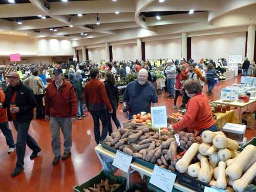 Dane County Farmers' Market, held downstairs in the same building on Saturday