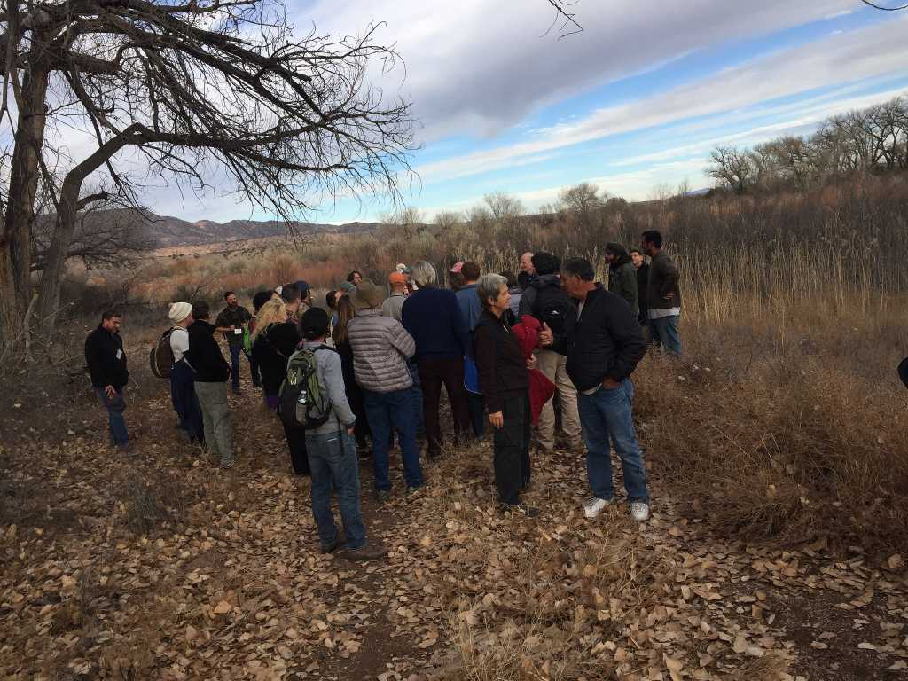 Learning about the riparian areas on Abiquiu Valley Farm