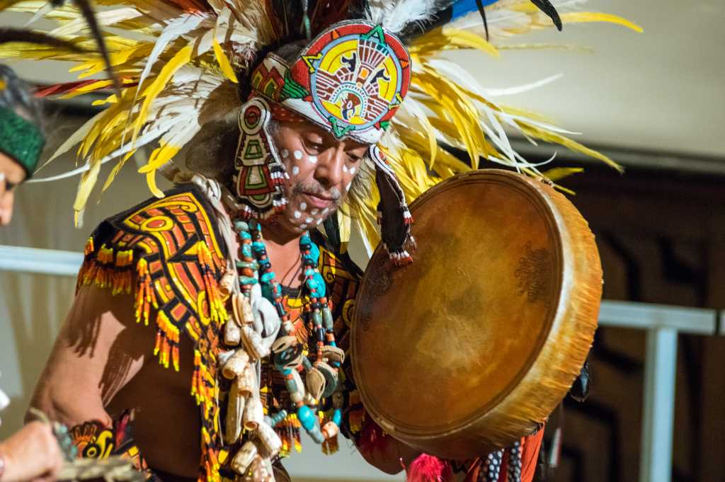 Danza Azteca, traditional pre-Columbian Indian dance group based in Taos