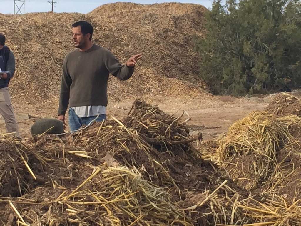 Cesar Barrioneuvo talks about compost making at Abiquiu Valley Farm