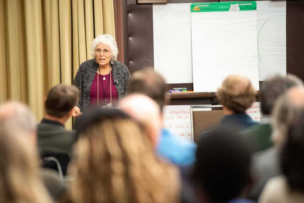 "Sherry Wildfeuer speaks during the pre-conference workshop ""In Anticipation of the 100th Anniversary of Biodynamic Agriculture, How Do We Responsibly Present its Spiritual-Scientific Foundations to the World?"""