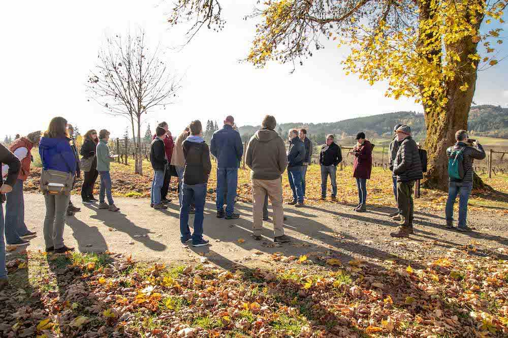 Touring Montinore Estates during pre-conference Biodynamic Winemaking Intensive