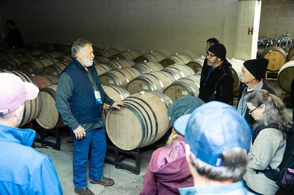 Rudy Marchesi at pre-conference Biodynamic Winemaking Intensive at Montinore Estates