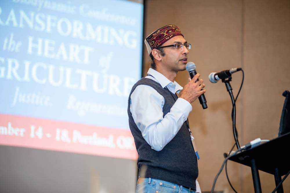 "Narendra Varma during keynote presentation on ""Transforming the Heart of Agriculture"""