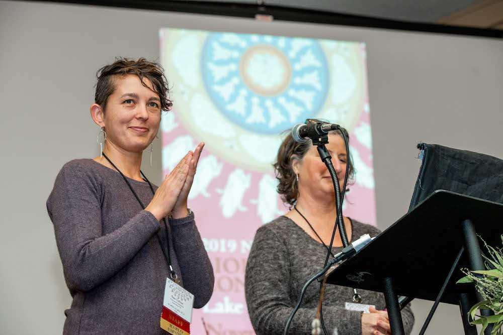 BDA Executive Director Thea Maria Carlson and Board President Daphne Amory