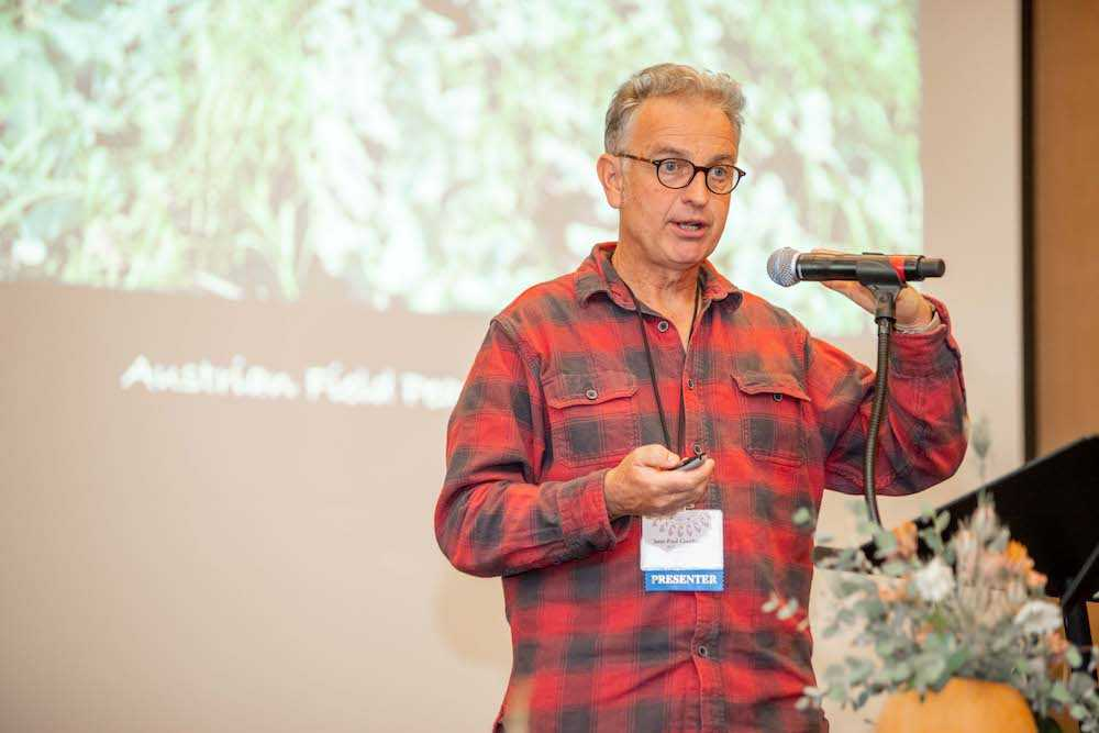 "Jean-Paul Courtens presents on ""Growing Vegetables in the Context of a Biodynamic Farm"""