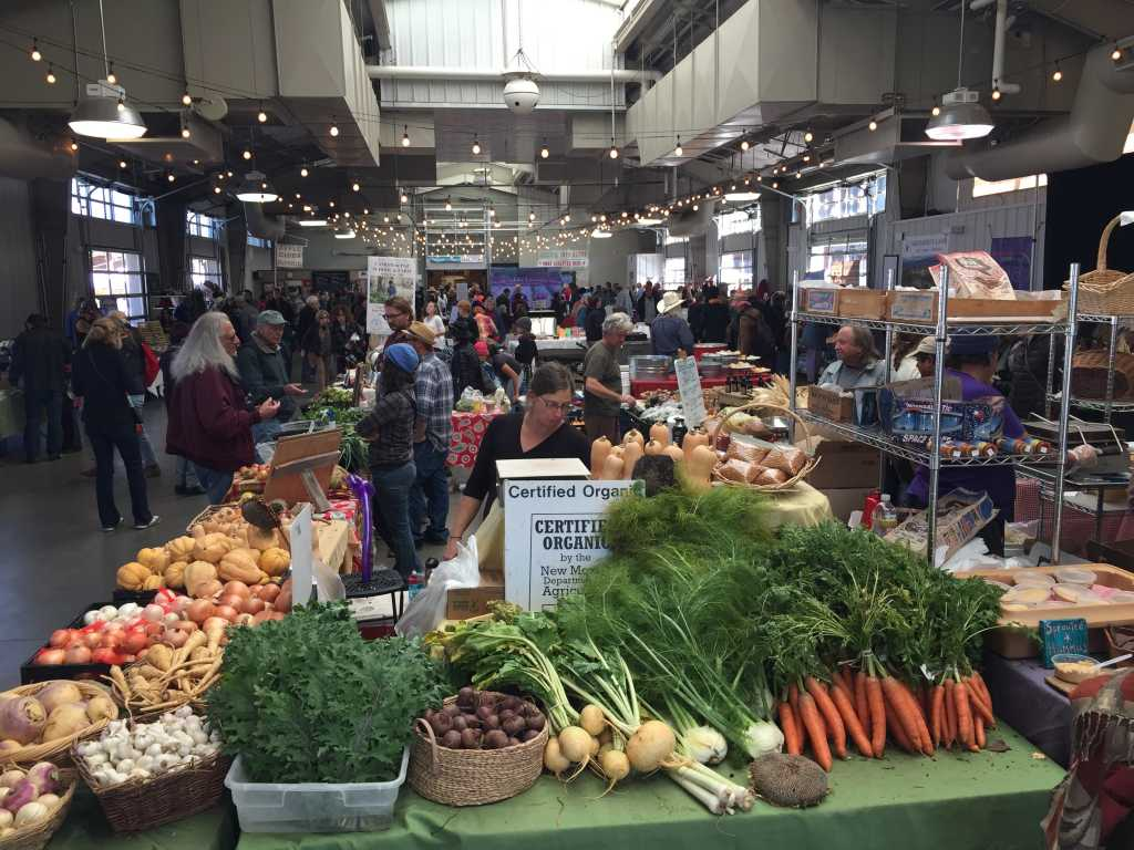 The Santa Fe Farmers' Market, with approximately 50 farms even in mid-November