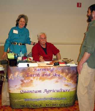 Hugh Lovel and Quantum Agriculture in the Exhibit Hall