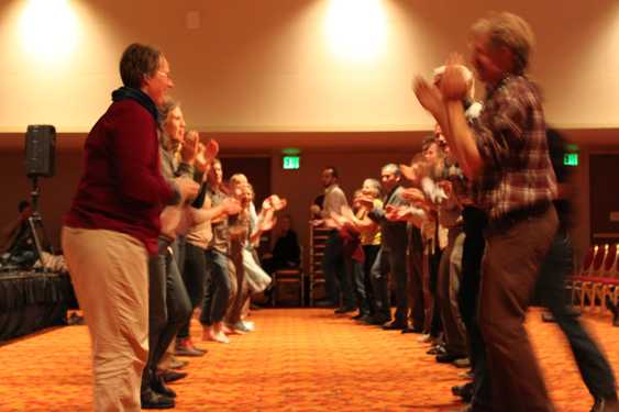 Traditional Irish dancing with Andreas Tronso and the Handful of Earth band