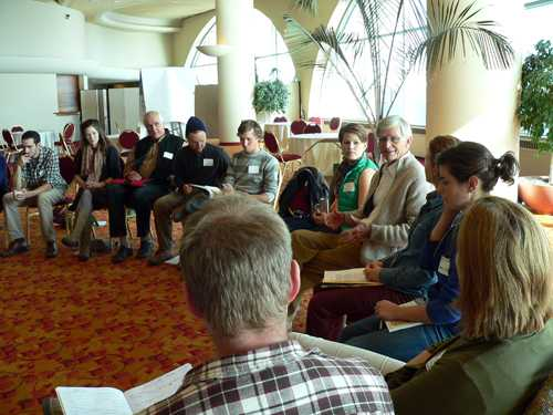 Gunther Hauk talks to biodynamic apprentices