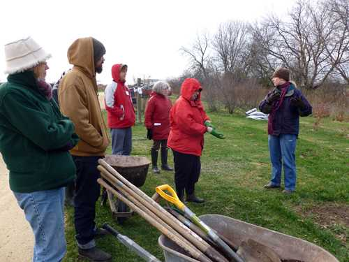 On-farm work session during farm-based education workshop