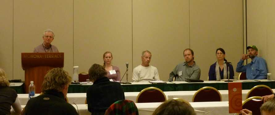 Author David Gumpert leads panelists in a discussion of food rights