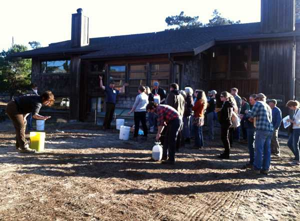 Spreading biodynamic compost and preparations on Asilomar conference grounds
